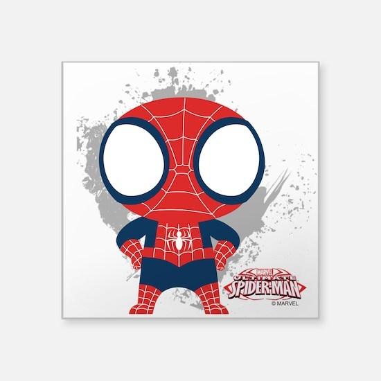 """Spiderman Mini Square Sticker 3"""" x 3"""""""