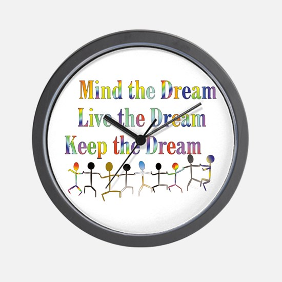 Live the Dream Wall Clock