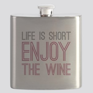 Life Short Wine Flask
