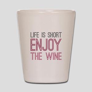 Life Short Wine Shot Glass