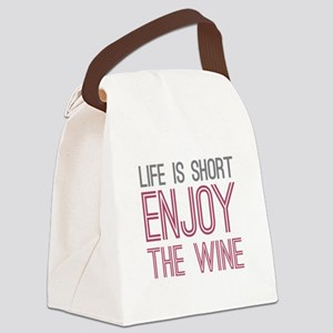 Life Short Wine Canvas Lunch Bag