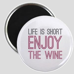 Life Short Wine Magnet