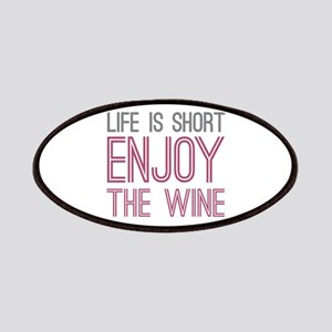 Life Short Wine Patches