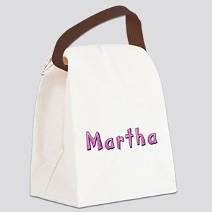 Martha Pink Giraffe Canvas Lunch Bag