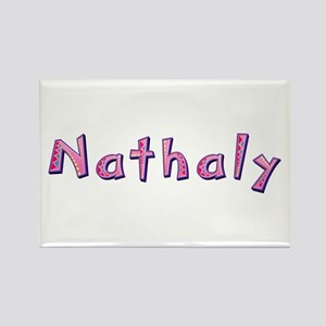 Nathaly Pink Giraffe Rectangle Magnet