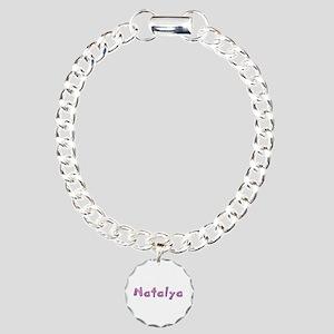 Natalya Pink Giraffe Charm Bracelet