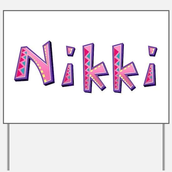 Nikki Pink Giraffe Yard Sign