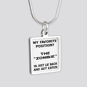 My Favorite Position? Silver Square Necklace