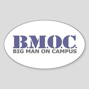 BMOC (Big Man On Campus) Oval Sticker