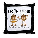 Pass Popcorn Nuts Throw Pillow