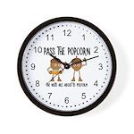 Pass Popcorn Nuts Wall Clock
