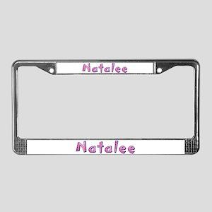 Natalee Pink Giraffe License Plate Frame