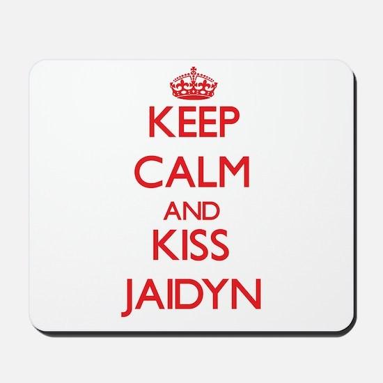 Keep Calm and Kiss Jaidyn Mousepad