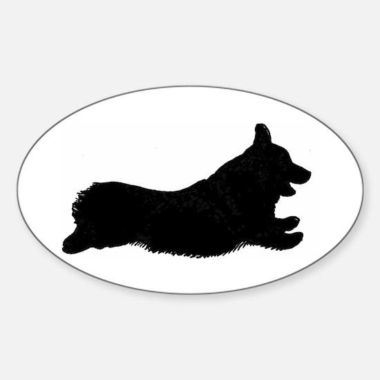 Original Logo Silhouette Oval - Sticker (Oval)