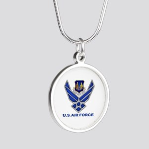 Air Materiel Command Silver Silver Round Necklace