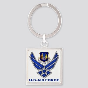 Air Materiel Command Square Square Keychain