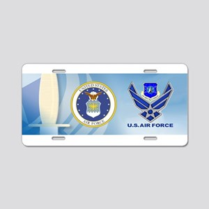 Space Command Aluminum License Plate