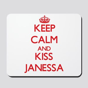 Keep Calm and Kiss Janessa Mousepad