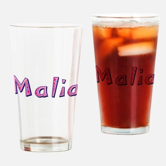 Malia Pink Giraffe Drinking Glass