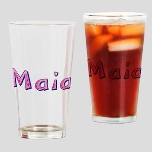 Maia Pink Giraffe Drinking Glass