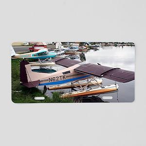 Float planes, Lake Hood, An Aluminum License Plate