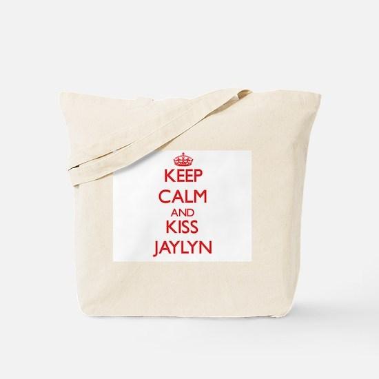Keep Calm and Kiss Jaylyn Tote Bag