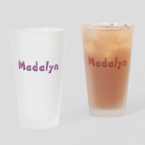 Madalyn Pink Giraffe Drinking Glass