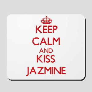 Keep Calm and Kiss Jazmine Mousepad