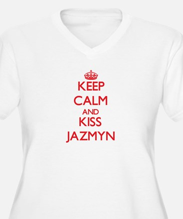 Keep Calm and Kiss Jazmyn Plus Size T-Shirt