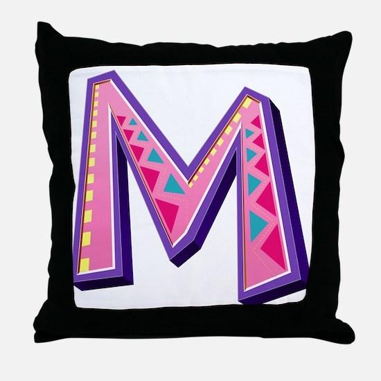M Pink Giraffe Throw Pillow