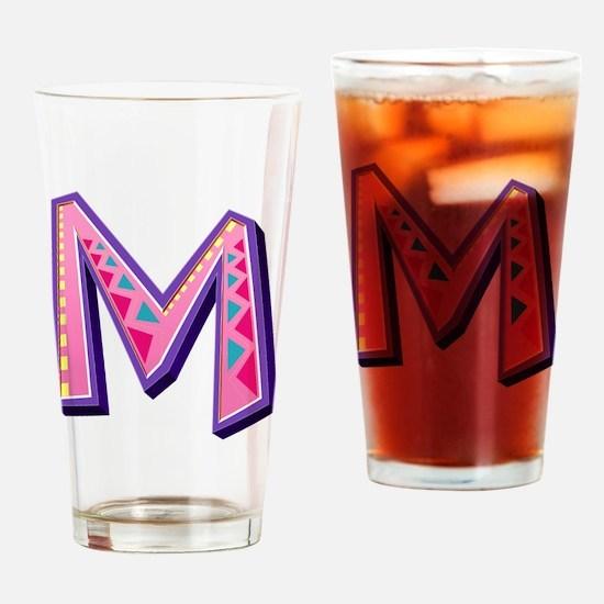 M Pink Giraffe Drinking Glass