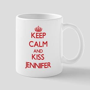 Keep Calm and Kiss Jennifer Mugs