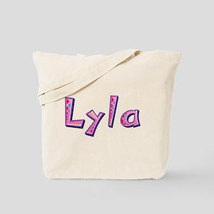 Lyla Pink Giraffe Tote Bag