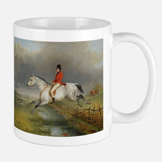 Clearing the Fence on the Hunt Mugs