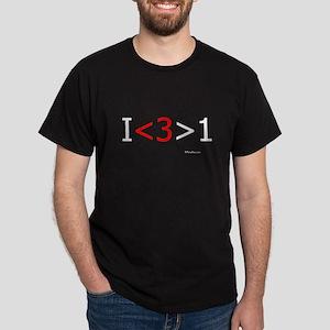 I love more than one (red hea Dark T-Shirt