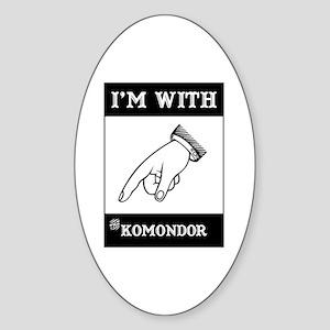 With the Komondor Oval Sticker