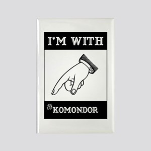 With the Komondor Rectangle Magnet