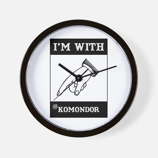 With the Komondor Wall Clock