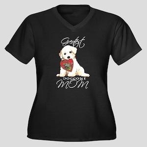 Bichon Mom Women's Plus Size V-Neck Dark T-Shirt
