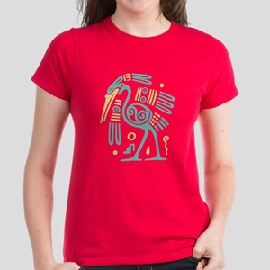 Tribal Crane Women's Dark T-Shirt