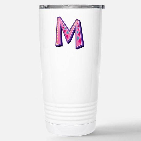 M Pink Giraffe Stainless Steel Travel Mug