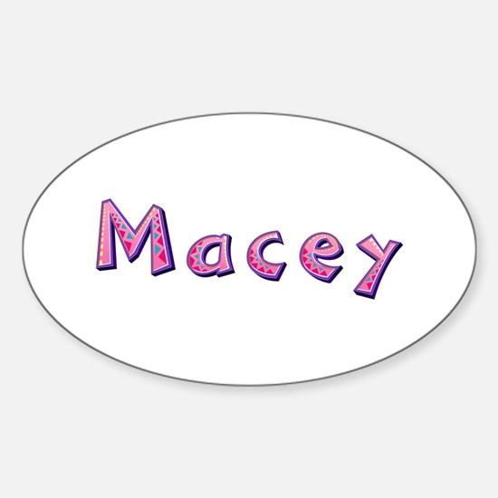 Macey Pink Giraffe Oval Decal