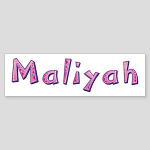 Maliyah Pink Giraffe Bumper Sticker