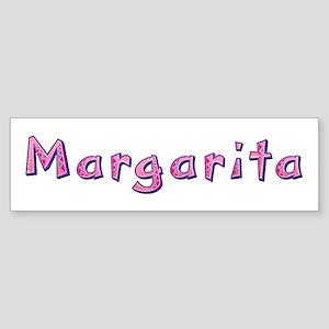 Margarita Pink Giraffe Bumper Sticker