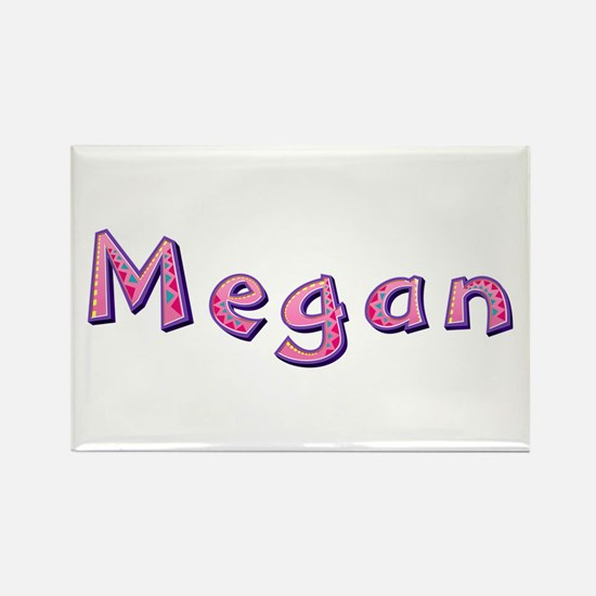 Megan Pink Giraffe Rectangle Magnet