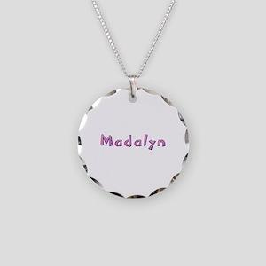 Madalyn Pink Giraffe Necklace Circle Charm