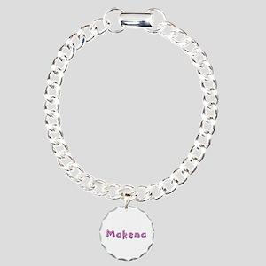 Makena Pink Giraffe Charm Bracelet