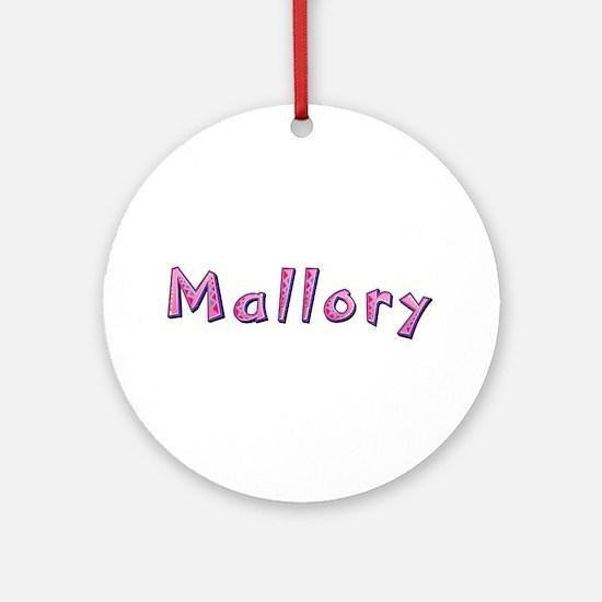 Mallory Pink Giraffe Round Ornament