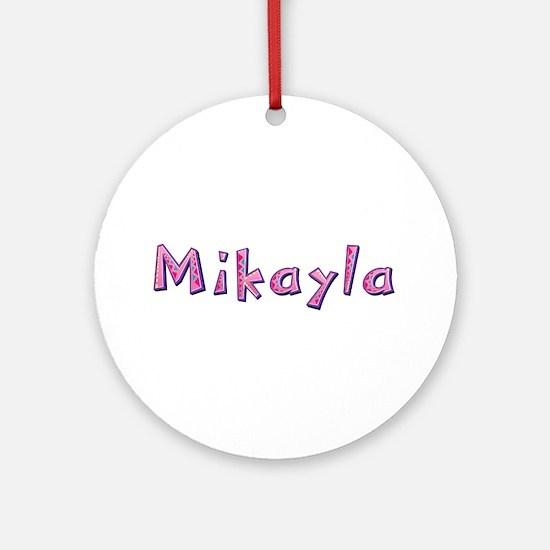 Mikayla Pink Giraffe Round Ornament