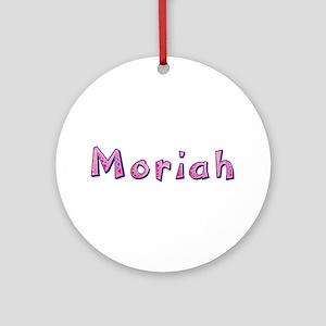 Moriah Pink Giraffe Round Ornament
